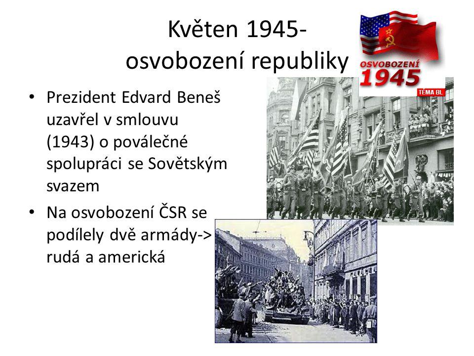 Květen 1945- osvobození republiky