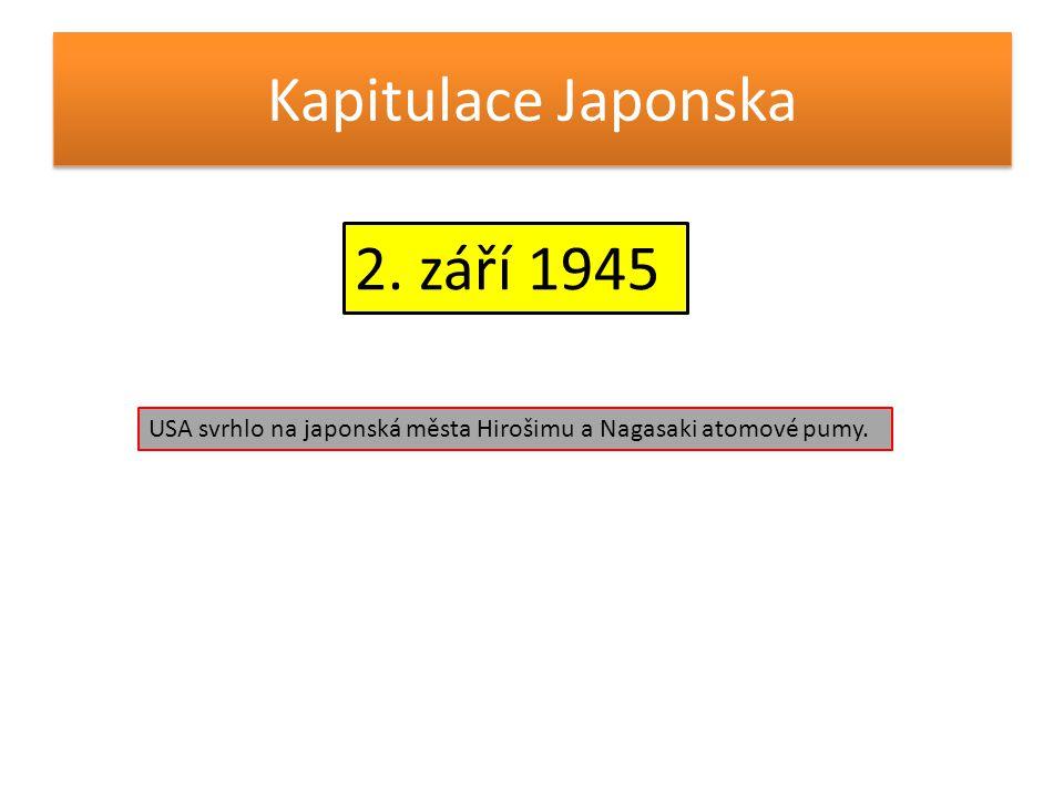Kapitulace Japonska 2. září 1945