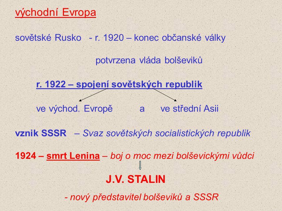 r. 1922 – spojení sovětských republik