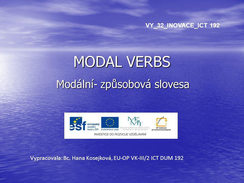 Modální- způsobová slovesa