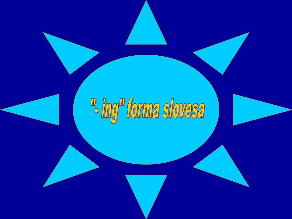 - ing forma slovesa
