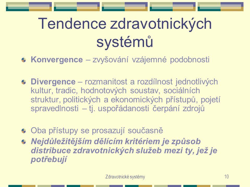 Tendence zdravotnických systémů