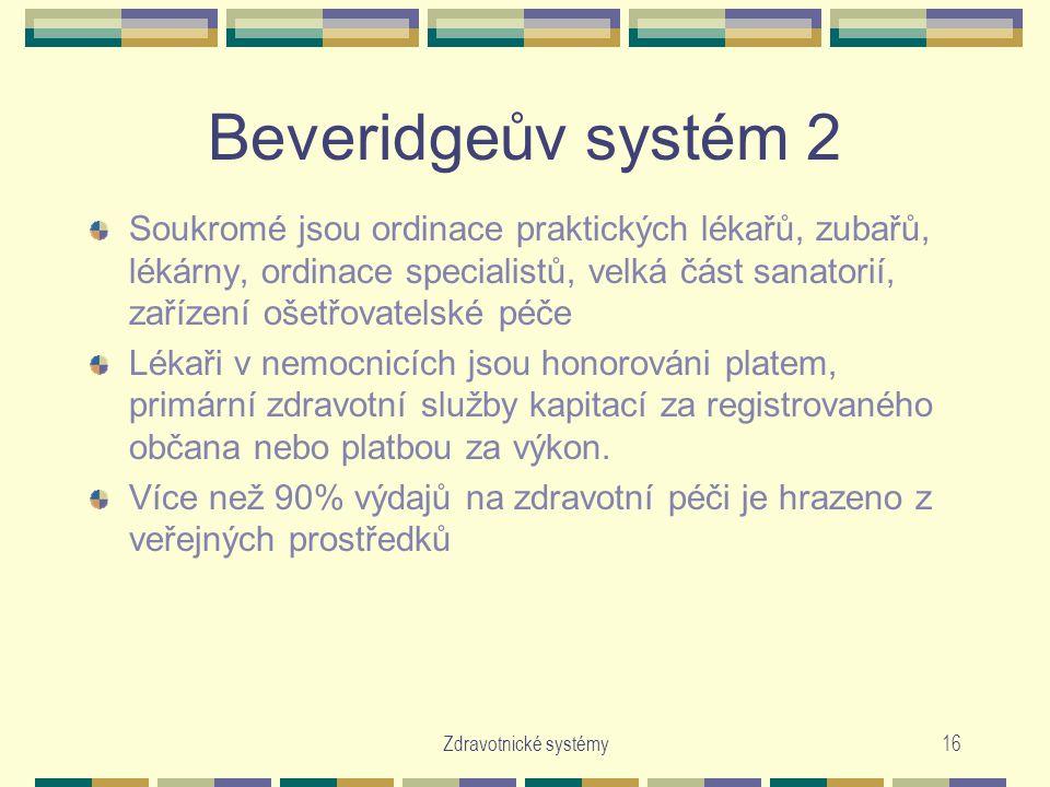 Beveridgeův systém 2