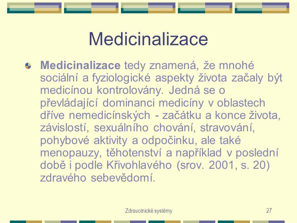 Medicinalizace