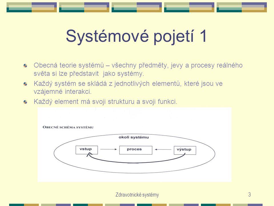 Systémové pojetí 1 Obecná teorie systémů – všechny předměty, jevy a procesy reálného světa si lze představit jako systémy.