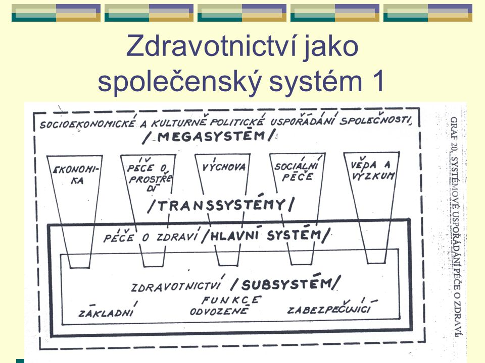 Zdravotnictví jako společenský systém 1