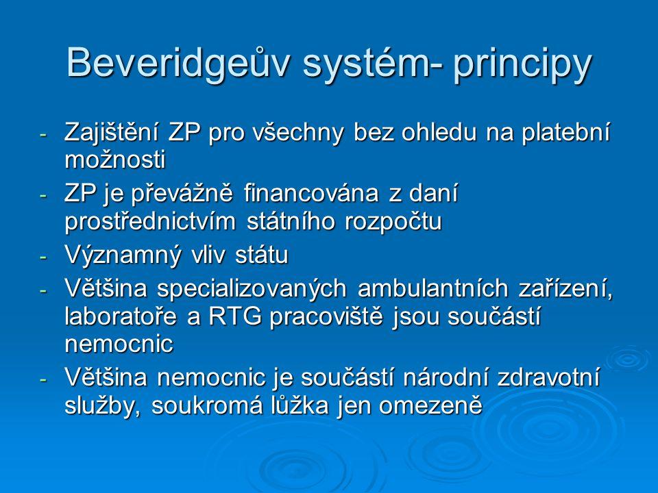 Beveridgeův systém- principy
