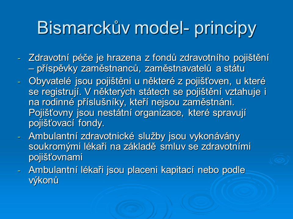 Bismarckův model- principy