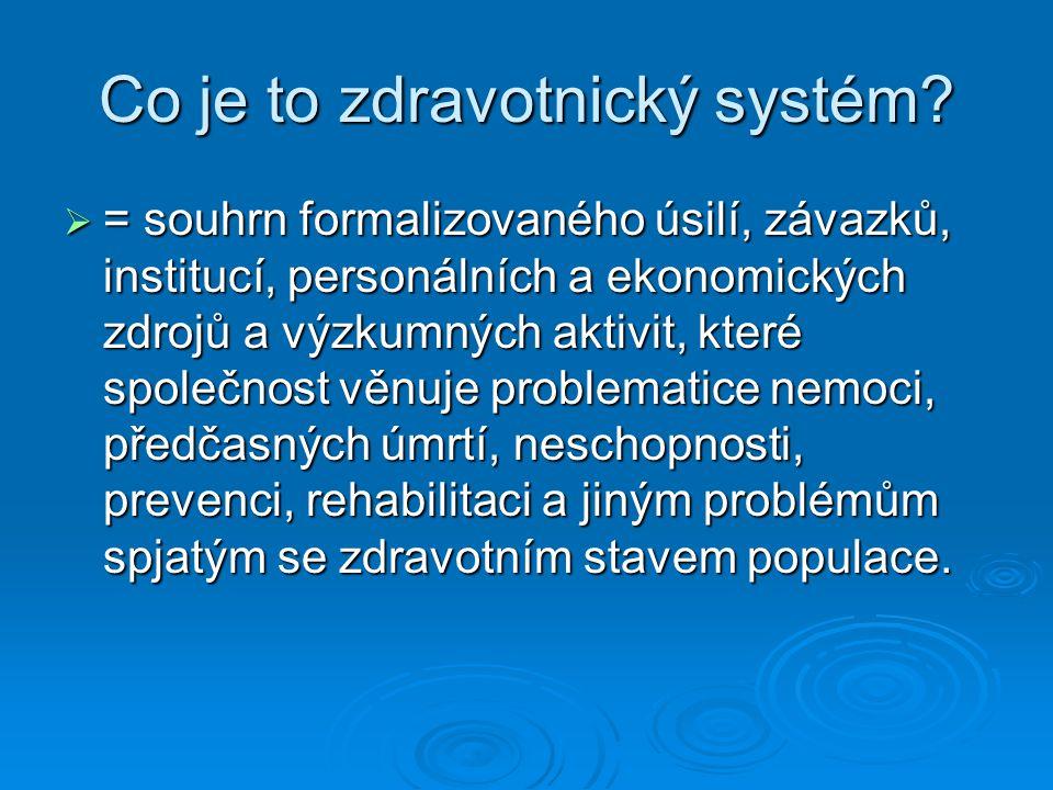 Co je to zdravotnický systém