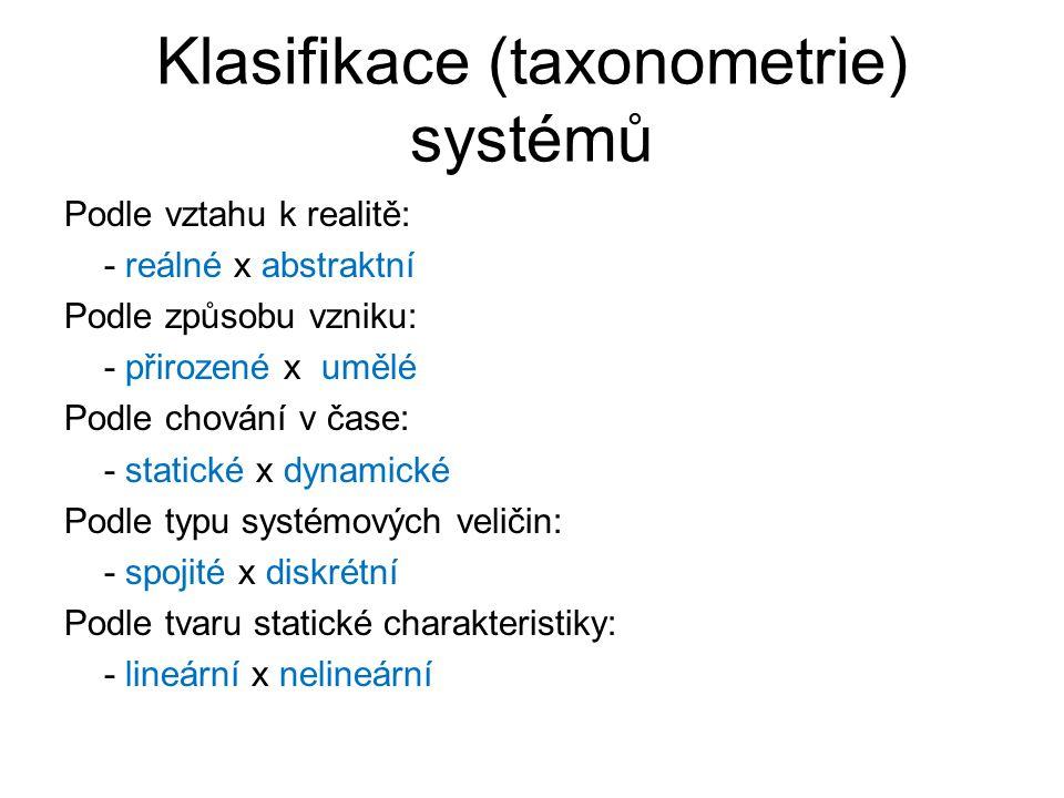 Klasifikace (taxonometrie) systémů