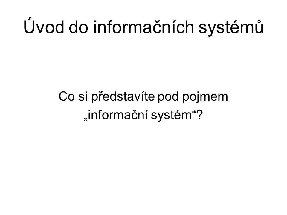 Úvod do informačních systémů