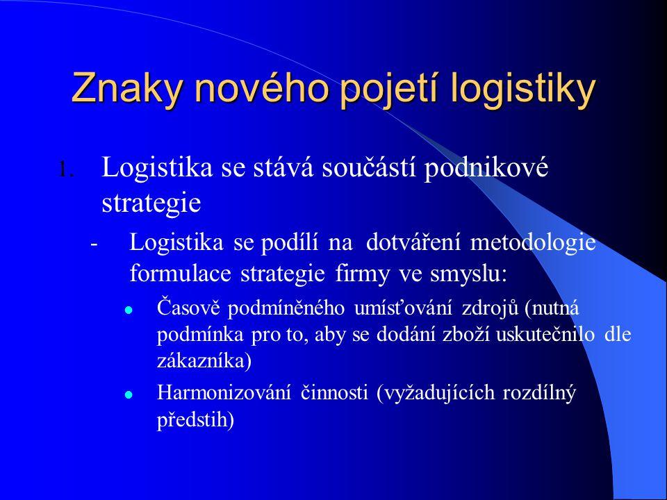 Znaky nového pojetí logistiky