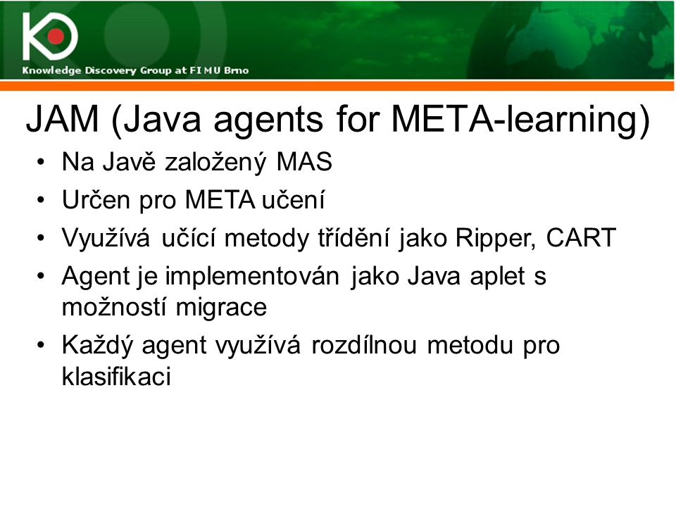 JAM (Java agents for META-learning)