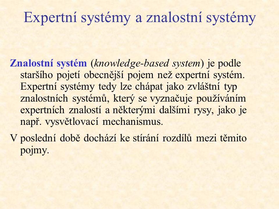 Expertní systémy a znalostní systémy
