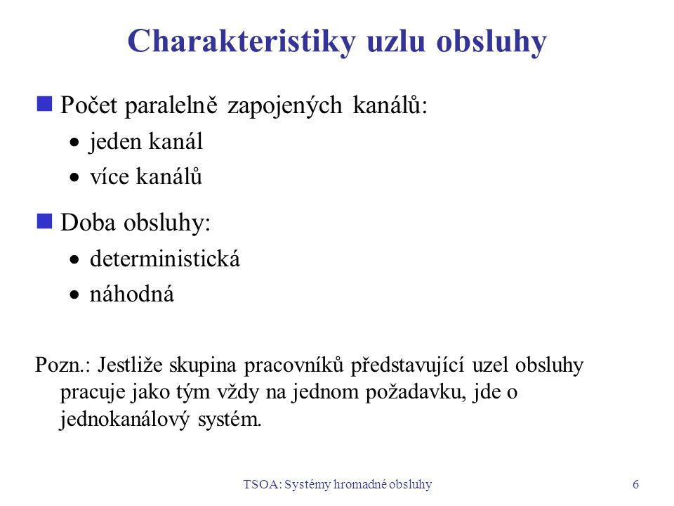 Charakteristiky uzlu obsluhy