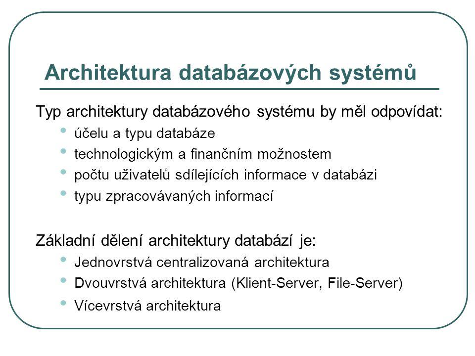 Architektura databázových systémů