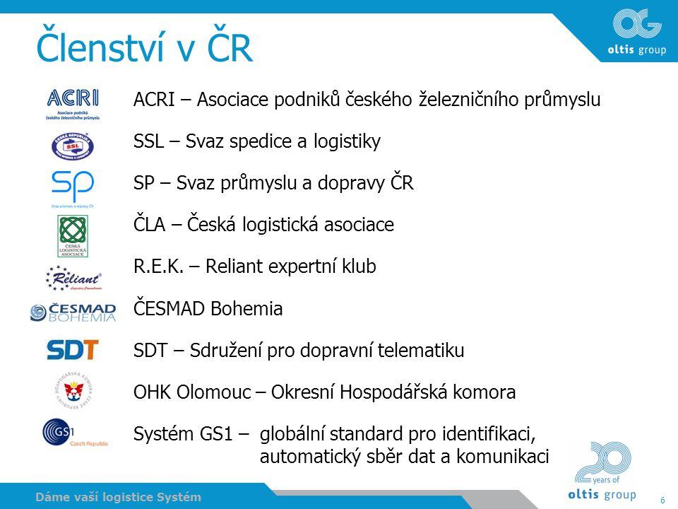 Členství v ČR ACRI – Asociace podniků českého železničního průmyslu