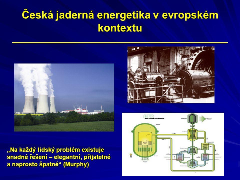 Česká jaderná energetika v evropském kontextu