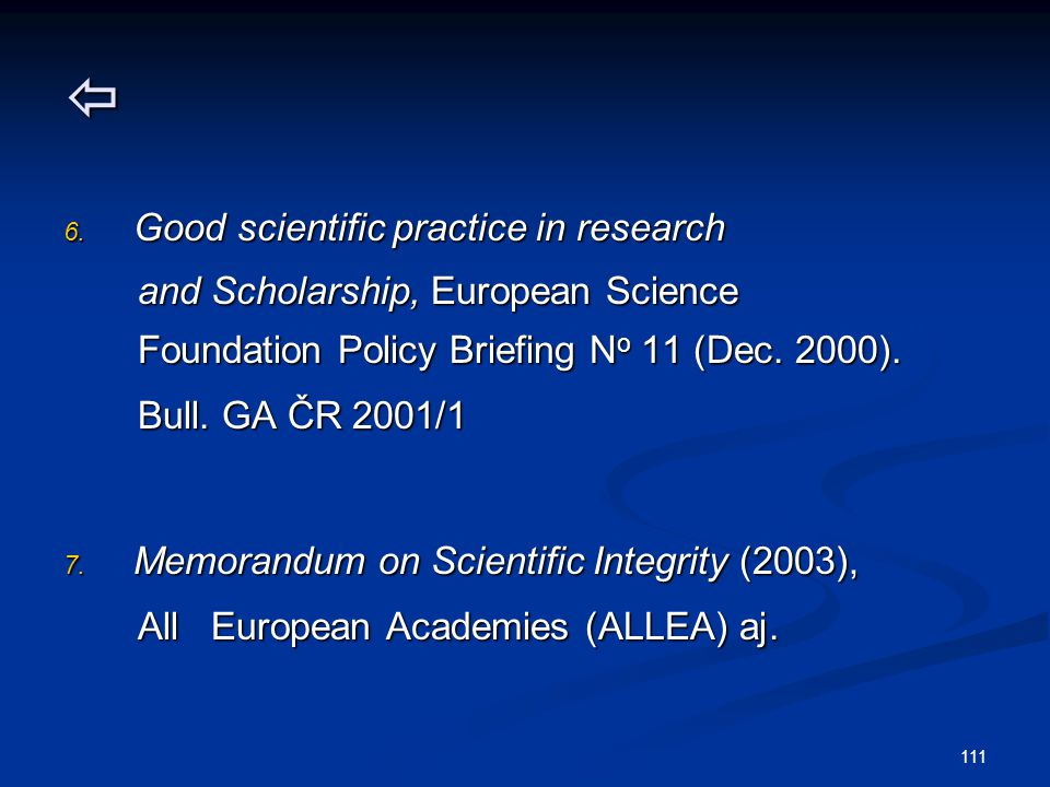  Good scientific practice in research