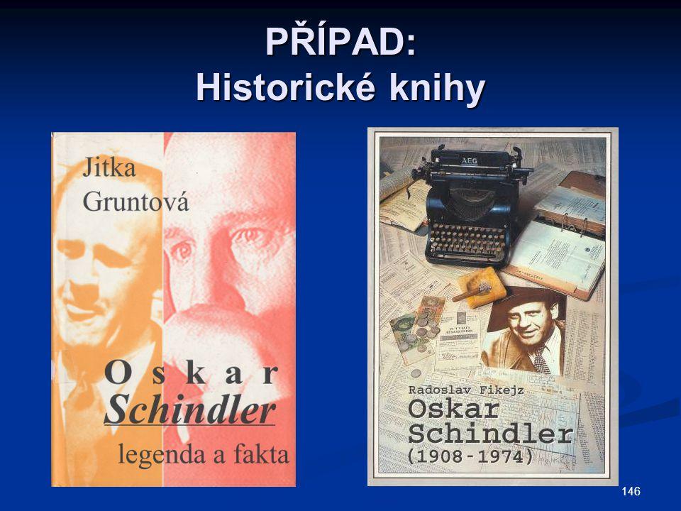 PŘÍPAD: Historické knihy