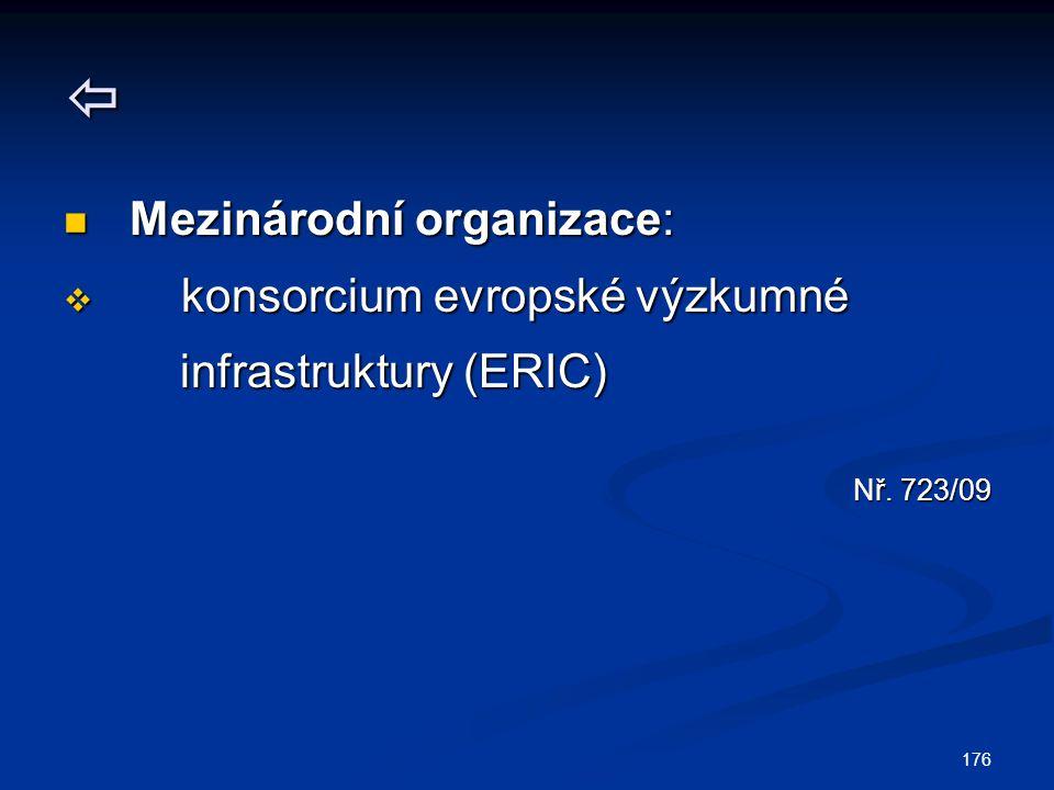  Mezinárodní organizace: konsorcium evropské výzkumné