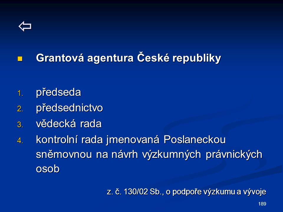  z. č. 130/02 Sb., o podpoře výzkumu a vývoje