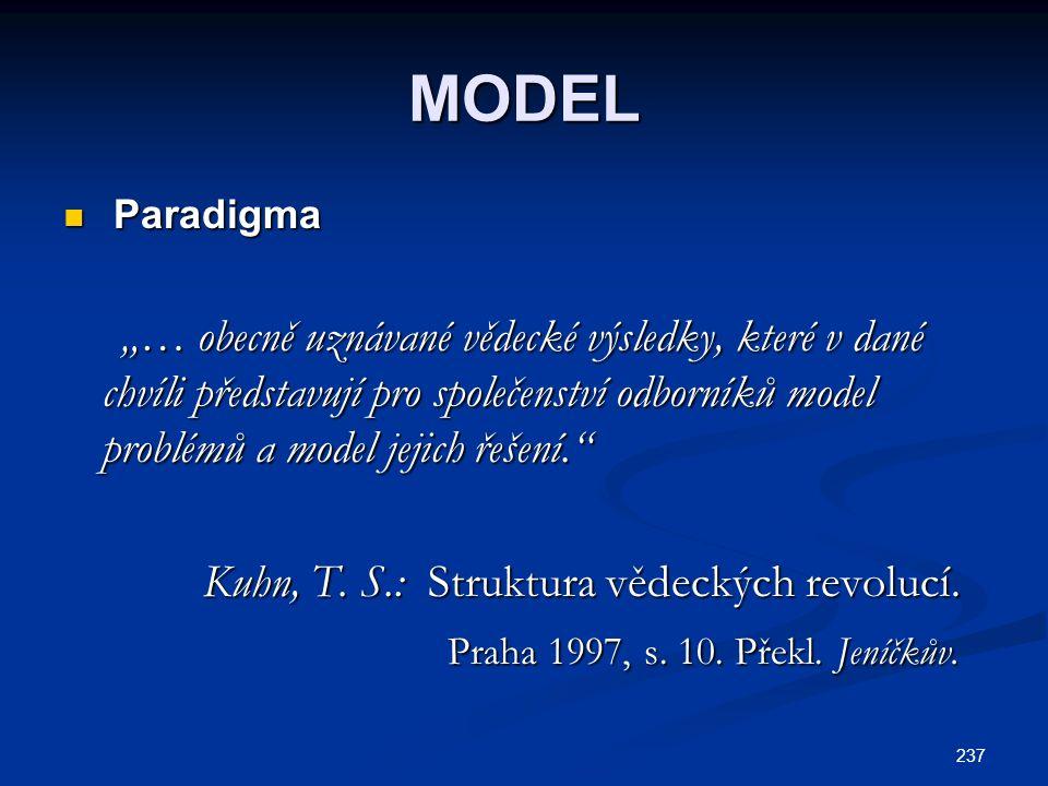 MODEL Kuhn, T. S.: Struktura vědeckých revolucí.