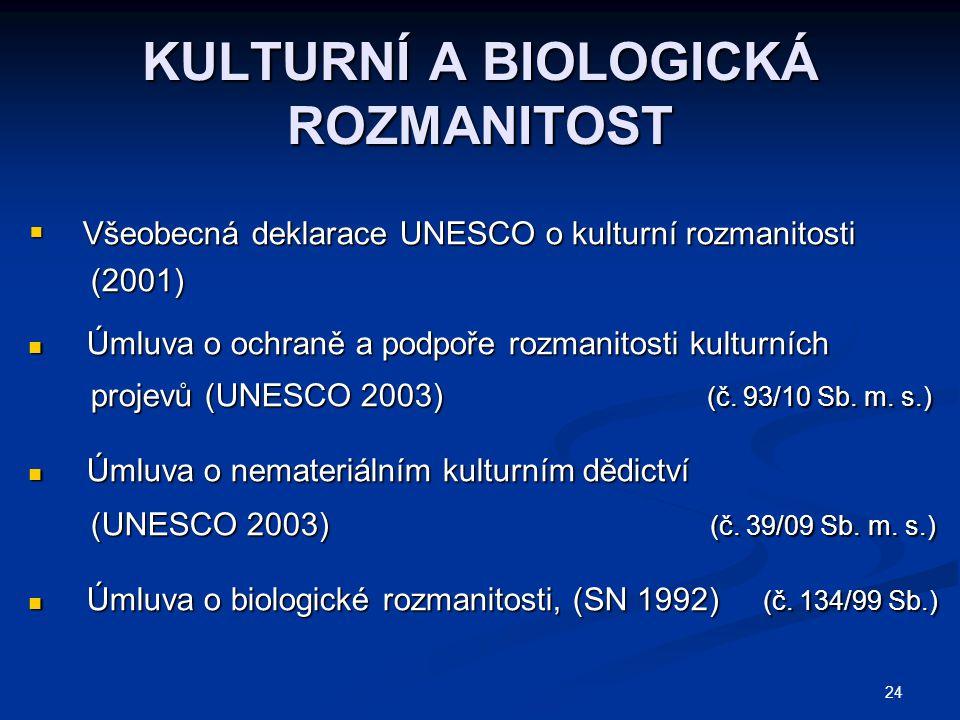 KULTURNÍ A BIOLOGICKÁ ROZMANITOST