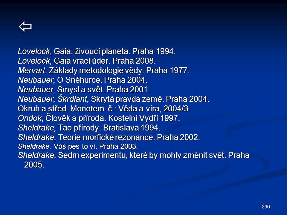 Lovelock, Gaia, živoucí planeta. Praha 1994.