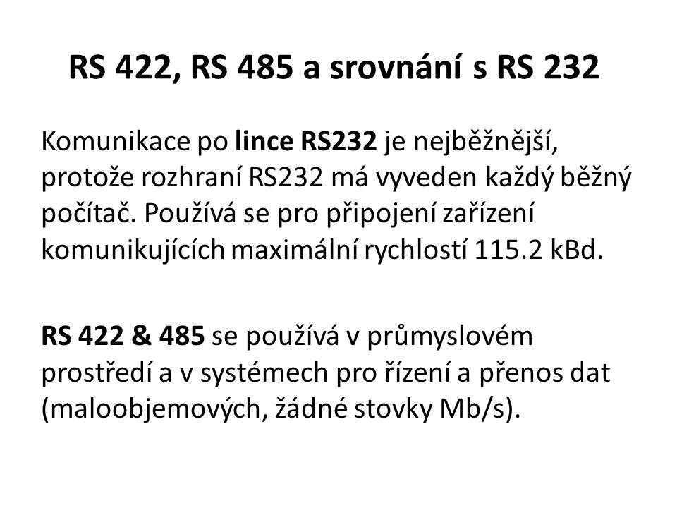 RS 422, RS 485 a srovnání s RS 232