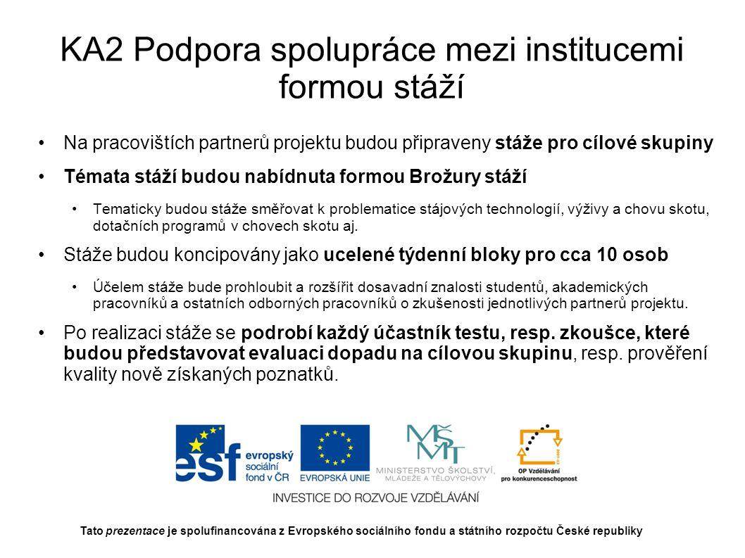 KA2 Podpora spolupráce mezi institucemi formou stáží