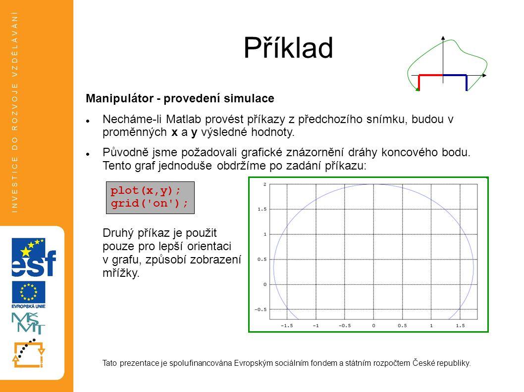 Příklad Manipulátor - provedení simulace