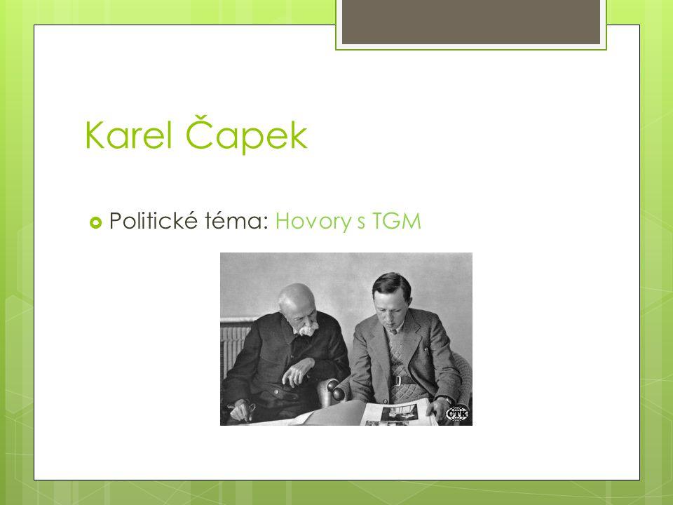 Karel Čapek Politické téma: Hovory s TGM