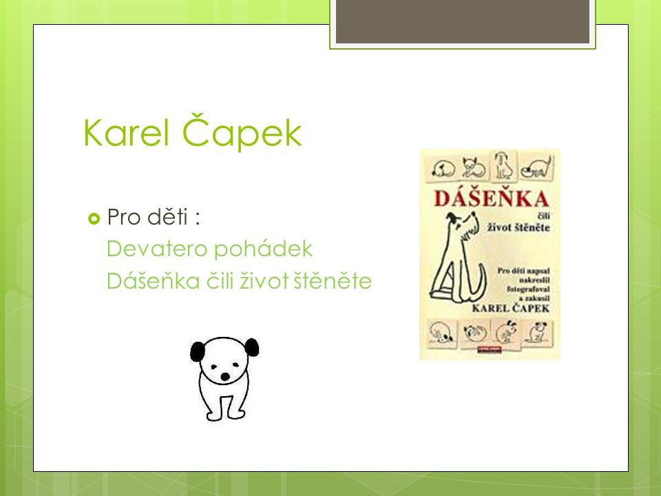 Karel Čapek Pro děti : Devatero pohádek Dášeňka čili život štěněte
