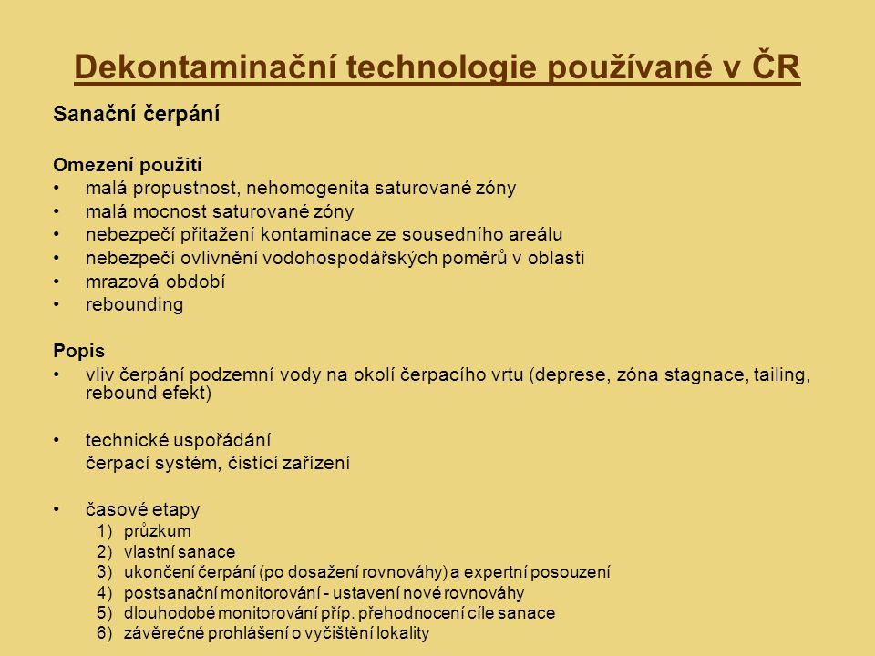 Dekontaminační technologie používané v ČR