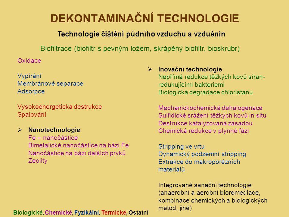 DEKONTAMINAČNÍ TECHNOLOGIE