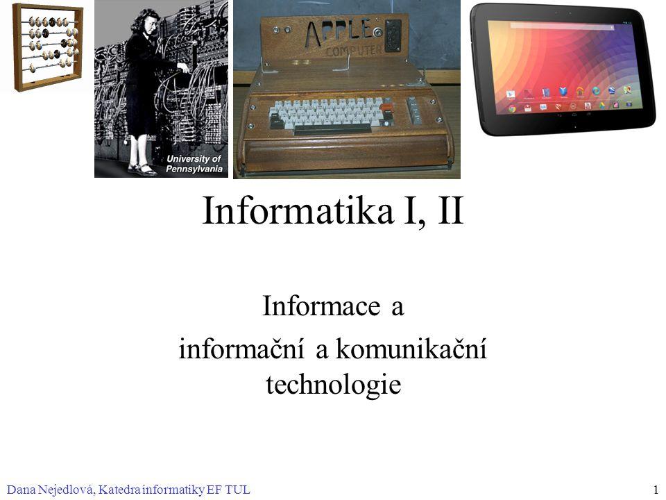 Informace a informační a komunikační technologie