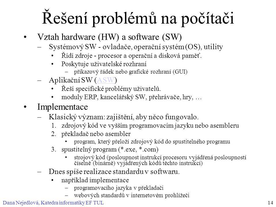 Řešení problémů na počítači