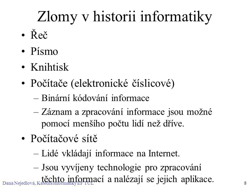 Zlomy v historii informatiky