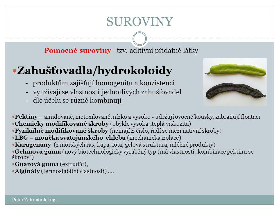 SUROVINY Zahušťovadla/hydrokoloidy