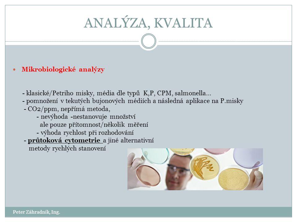 ANALÝZA, KVALITA Mikrobiologické analýzy