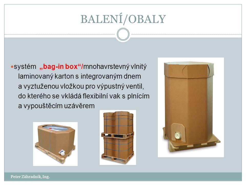 """BALENÍ/OBALY systém """"bag-in box /mnohavrstevný vlnitý"""