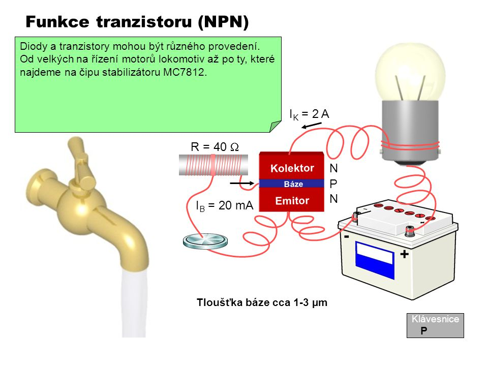 Funkce tranzistoru (NPN)