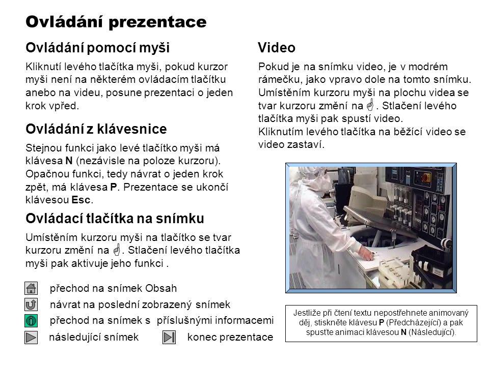Ovládání prezentace  VIDEO 320 x 240  Ovládání pomocí myši Video