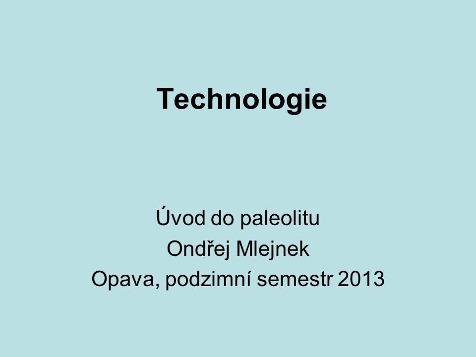 Úvod do paleolitu Ondřej Mlejnek Opava, podzimní semestr 2013