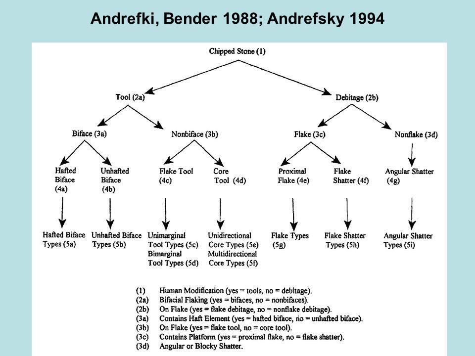 Andrefki, Bender 1988; Andrefsky 1994
