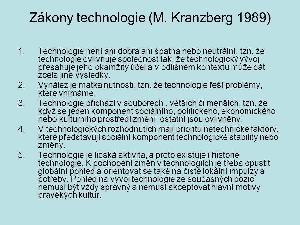 Zákony technologie (M. Kranzberg 1989)