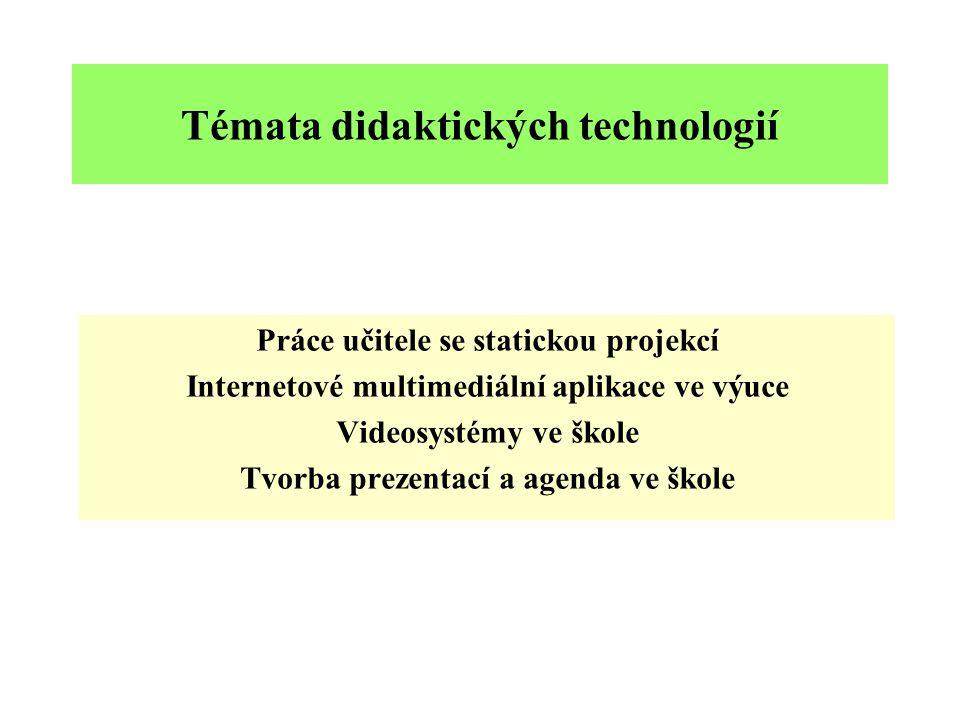 Témata didaktických technologií