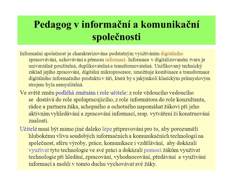 Pedagog v informační a komunikační společnosti