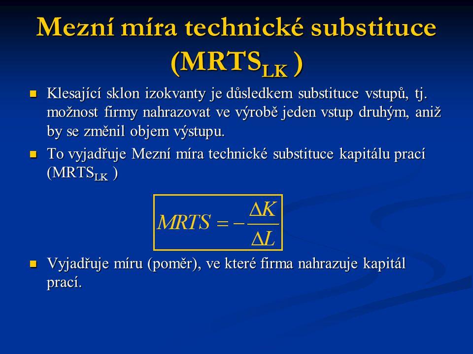 Mezní míra technické substituce (MRTSLK )